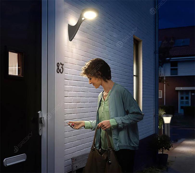 Sresky - solar wall light - The best 10 outdoor solar wall lights Review