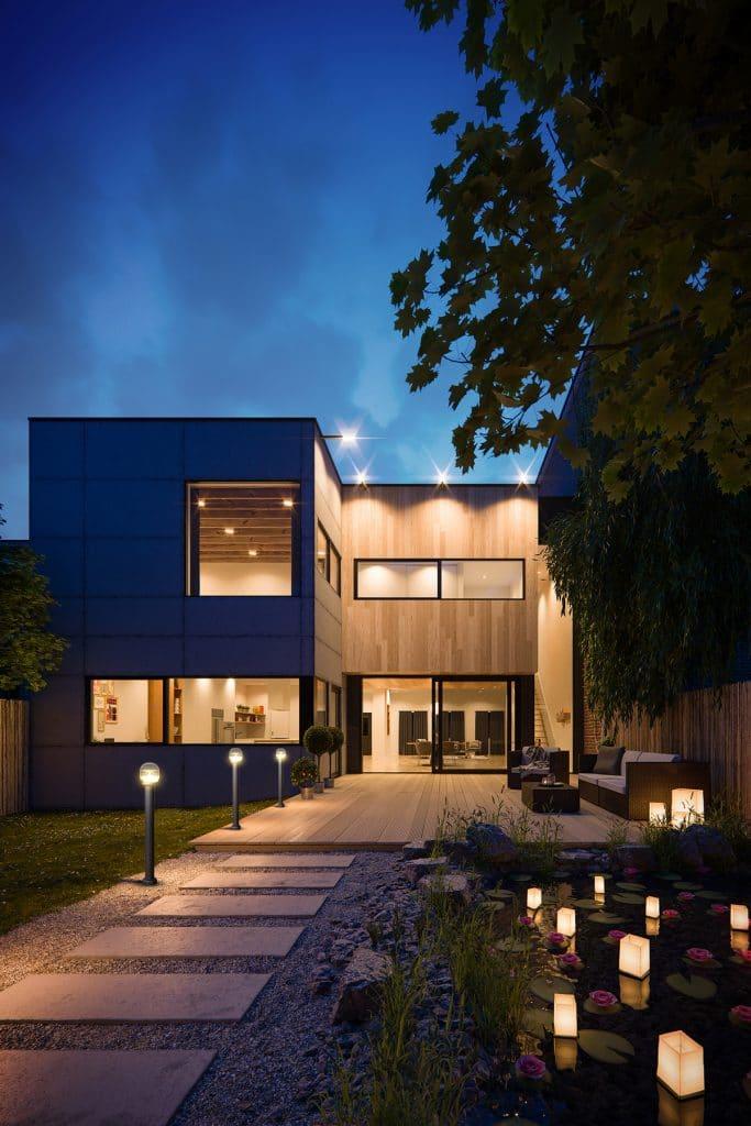 Sresky - Solar garden light Installation effect of customer villa