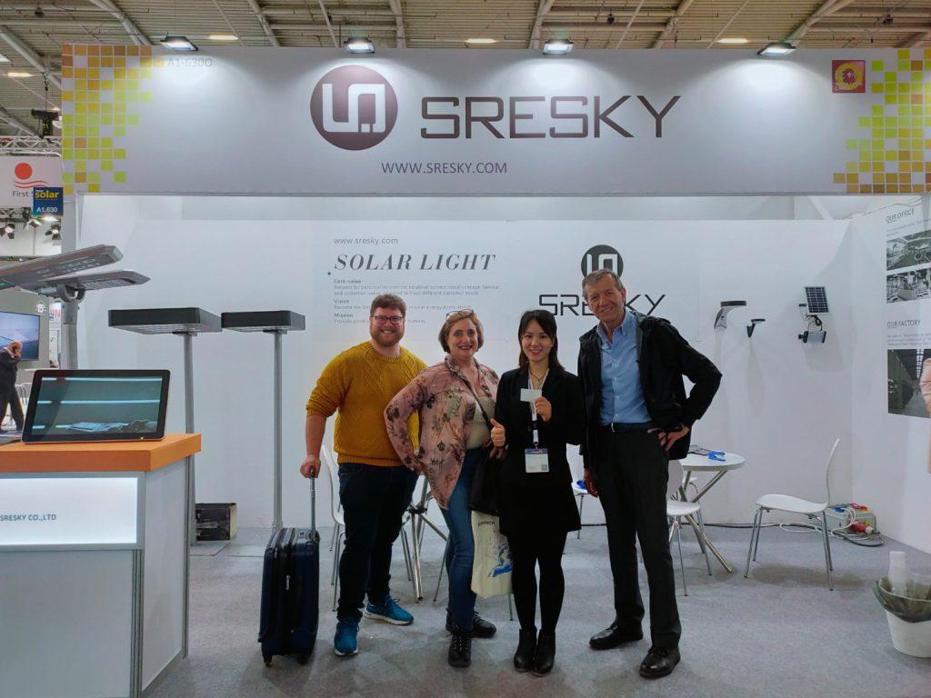 Sresky - Solar wall light exhibition in Germany